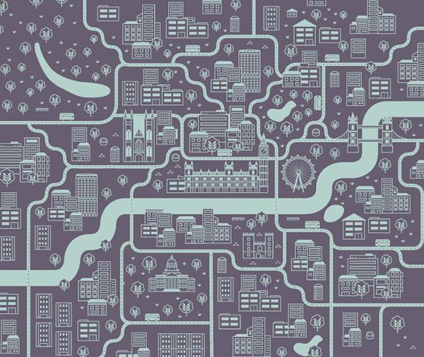 London City Map on Behance: https://www.behance.net/gallery/3603639/London-City-Map