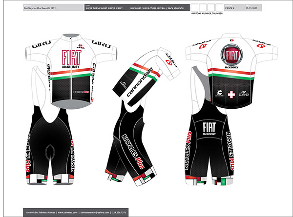 FIAT Cycling Team Branding on Behance c10517389