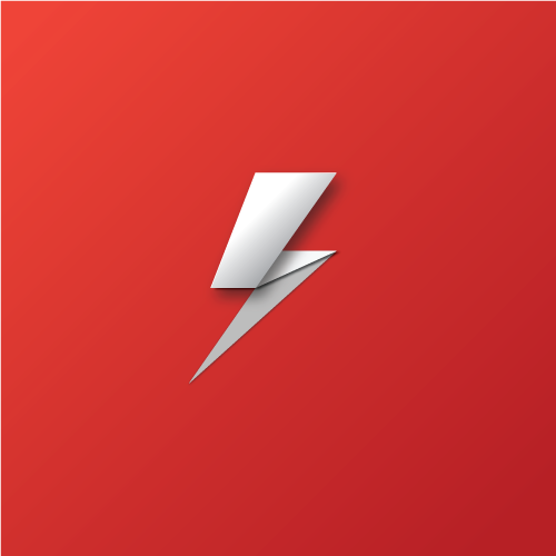 Thank You! & Lightning Bolt Logo - Material Design on Behance