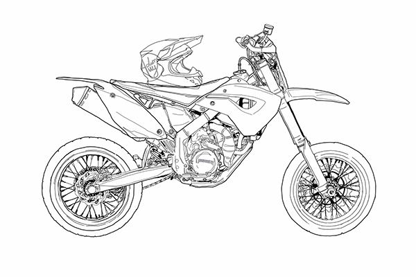 Husaberg supermoto on behance - Dessin de motard ...