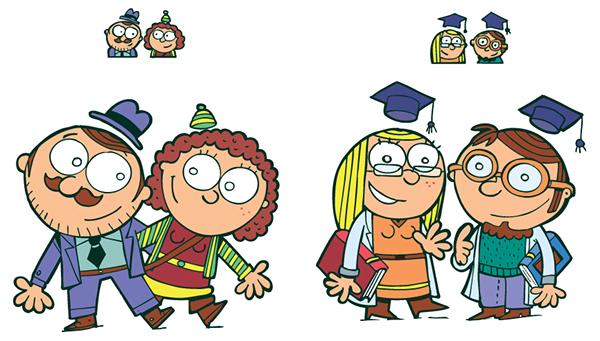 chiquitube personajes ilustracion