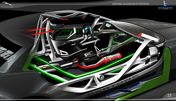 Bertone Jaguar B99 Gt Interior On Behance