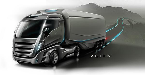 Iveco Stralis Alien On Behance