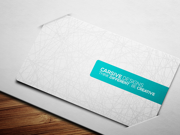 business card visiting brand creative template sleek clean abstract