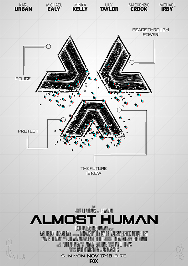 "Almost Human - ""Movie"" Poster Art on Behance"