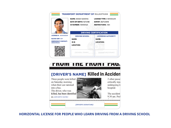 Redesigning Indian Drivers License to Curb Corruption on