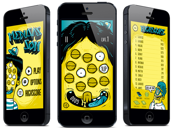 medusas son  medusa iphone app game whiteape Games White ape deedeekid ddkid niklas coskan Animation Trailer ArtDirection TAP
