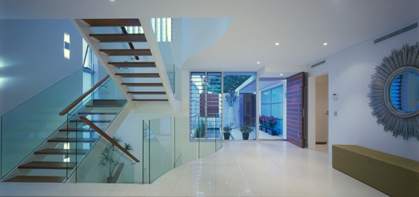 Foyer Stairs Qld : River city house brisbane on behance