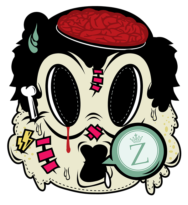 mask Halloween flyer DISTORTED club characters ZIRCA CANNERY