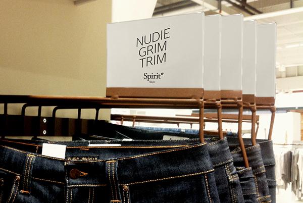 spirit identity typo Logotype logo Retail instore profile black & white Clothing clean Fun Smart tonality flirty