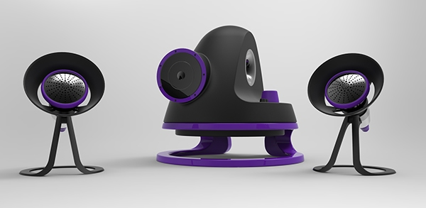 2 1 speaker system on behance