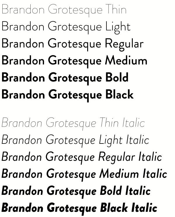 HVD sans-serif geometric 1920s legible technical swiss bauhaus modern german Hannes von Döhren HVD Fonts brandon brandon grotesque