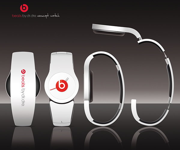 watch concept Concept Watch alexandre duhail Alexandre Duhail watch design beats by dr.dre Dr Dre beats Beats By Dr Dre White French