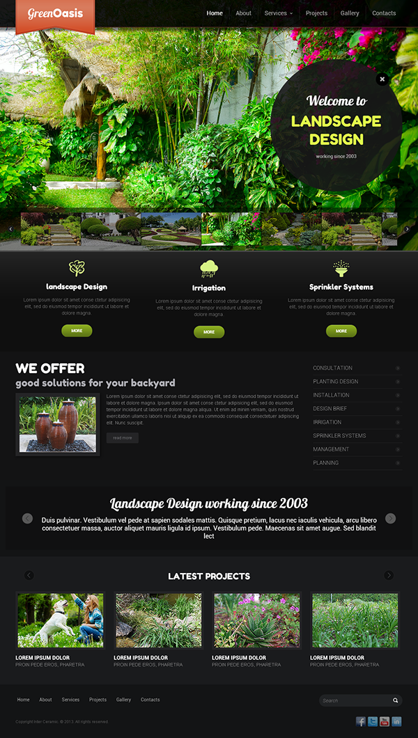 Sign up to join the conversation - Green Oasis Landscape Design Bootstrap HTML Template On Behance