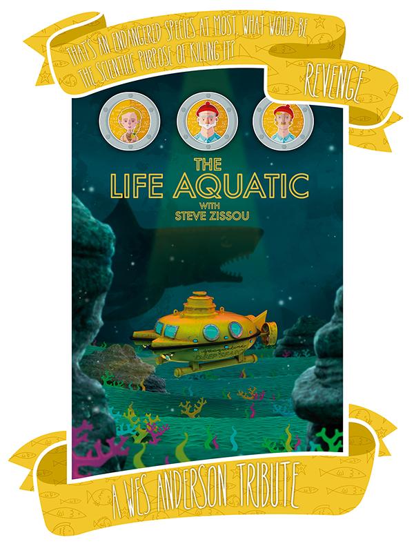 wes anderson The Life Aquatic Steve Zissou 3D model Render