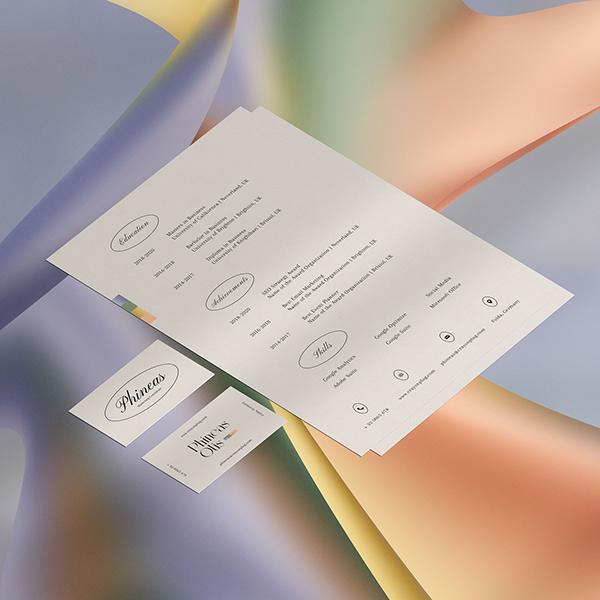 Résumé& Name Card Template