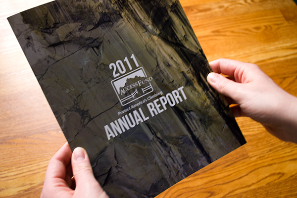 ANNUAL report climbing Nature outside outdoors rock action sports access Fund nonprofit non-profit