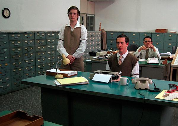 70's Office typing machine newspaper espm