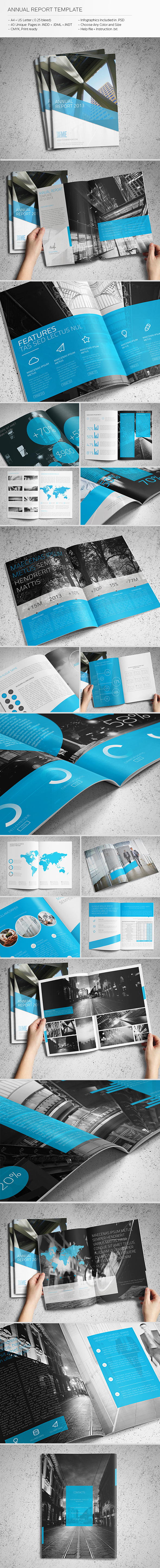 annual report template on behance this wonderfully light professional and convenient template created for the annual reports however you can also use it as a corporate brochure