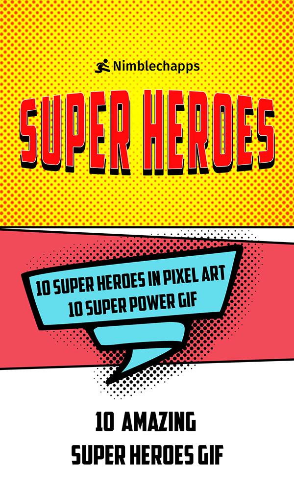 Super Hero Fan Art Stickers | Super Heroes Pixel Art on