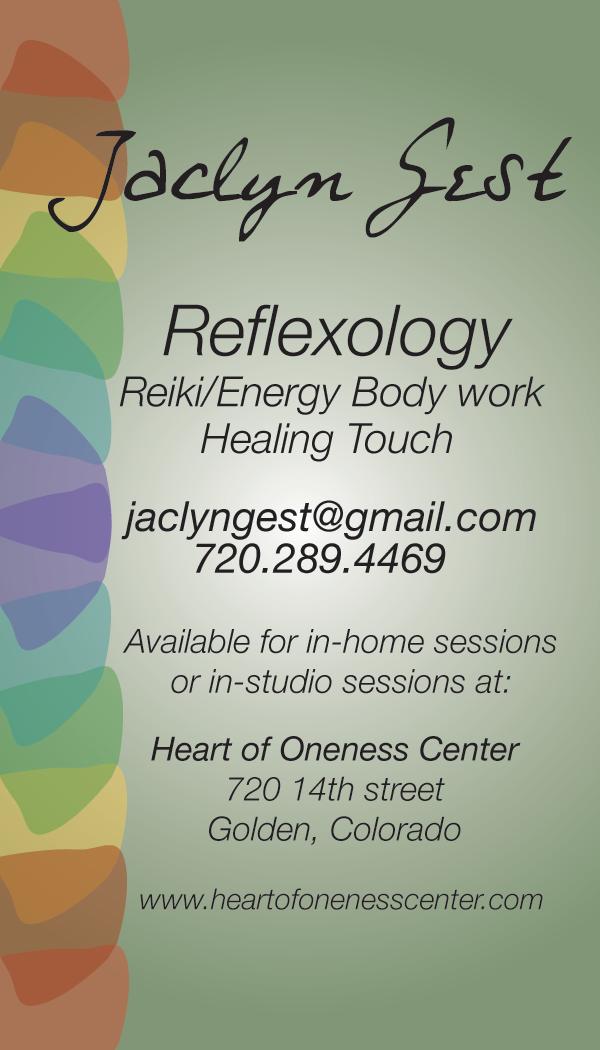 Jaclyn Gest reflexology business card on Behance