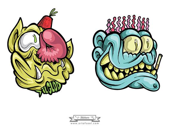 three faced monster