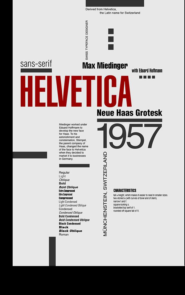 Helvetica Poster on Behance