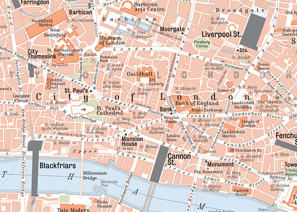 Centre London Map.Map Of Central London On Behance
