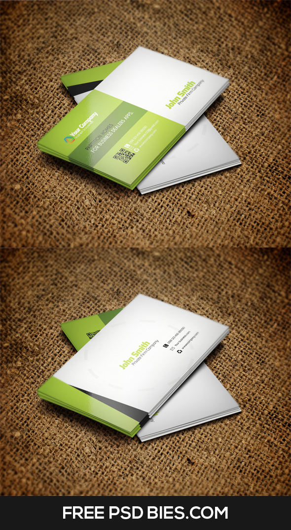 Corporate professional qr code business card template on behance reheart Image collections
