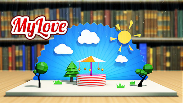 3D book card cartoon colorful gift greetings happy Holiday Love Magical pop up valentine Valentine's Day