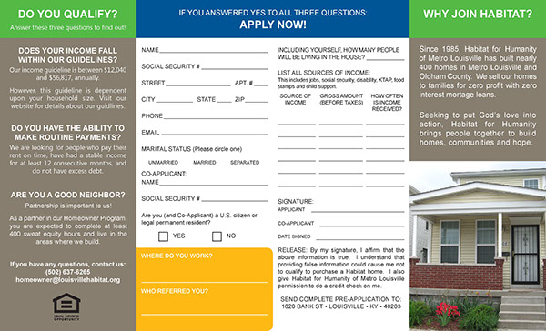Habitat for Humanity of Metro Louisville Application on SAIC