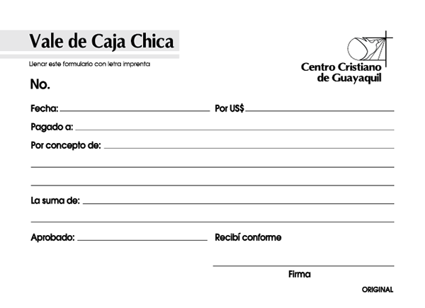 Formato de caja chica - Imagui