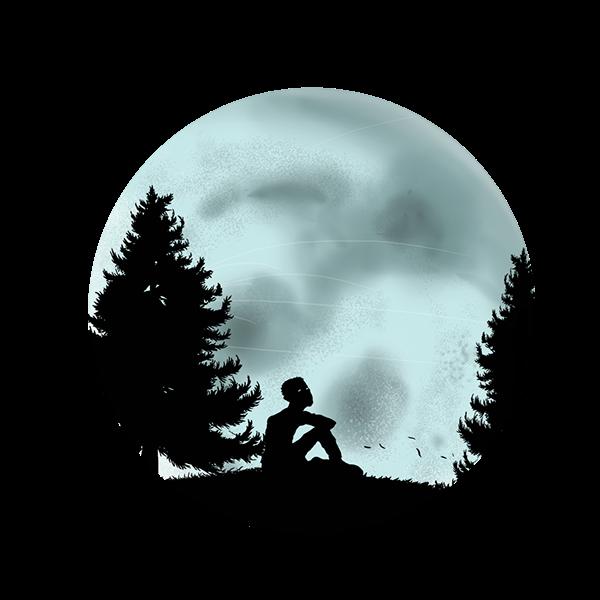 characters Silhouette penguin Shadows zen