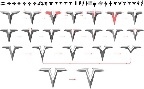 Tesla Logo Concept Redesign On Pantone Canvas Gallery