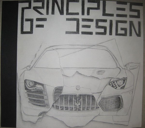 Principles Of Design Cover Page College Project On Student Show