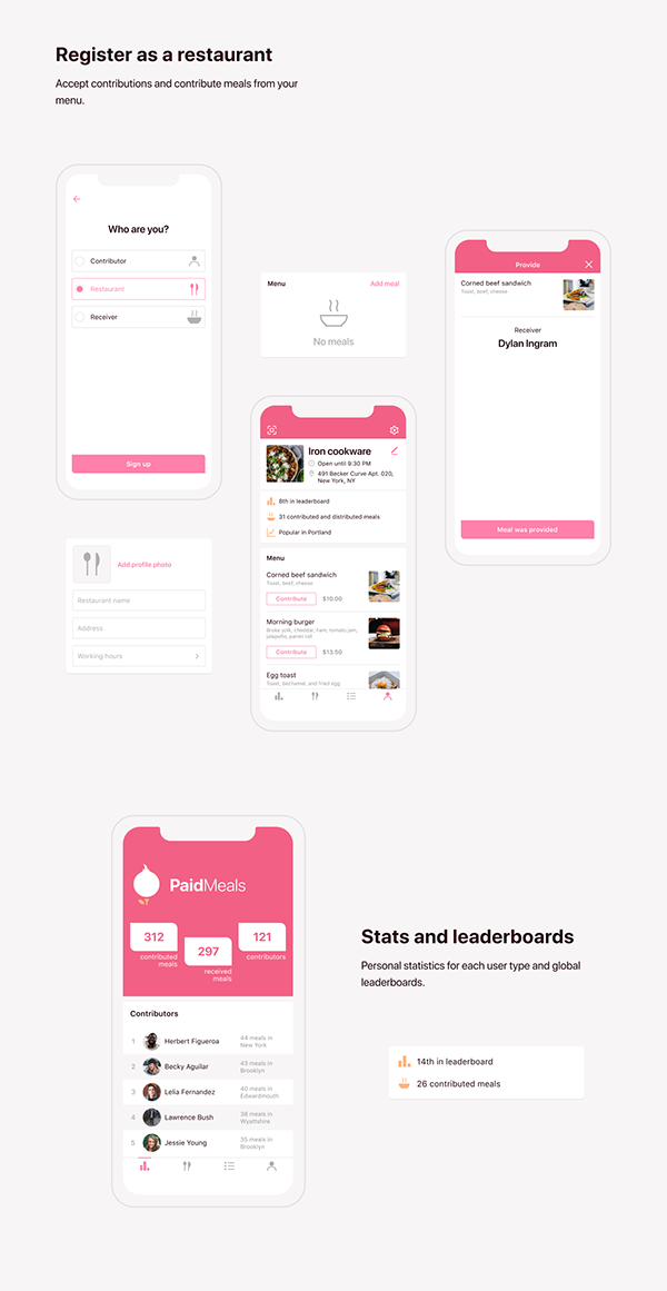 PaidMeals Mobile Application