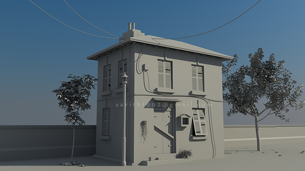 Old home 3d model on student show Home 3d model