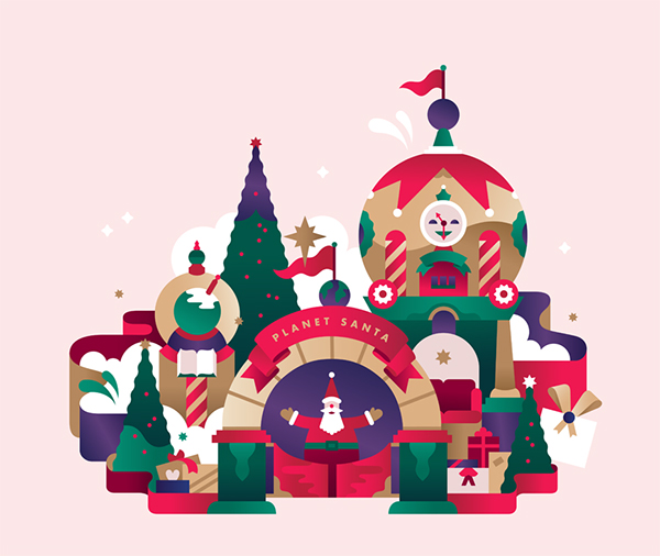 Christmas Illustrations.Stc Christmas Campaign Illustrations On Risd Portfolios