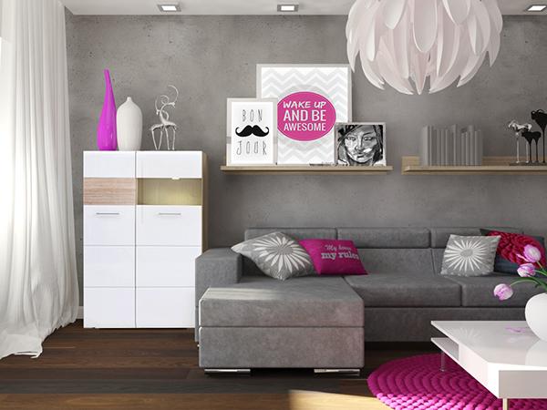Remont mieszkania w bloku  salon z otwartą kuchnią on Behance