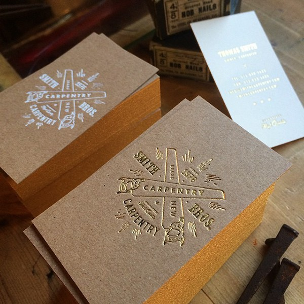 Brown Kraft Foiled Business Cards On Behance