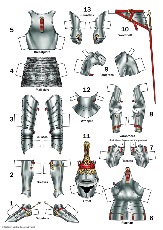 Suit of armour to dress the knight