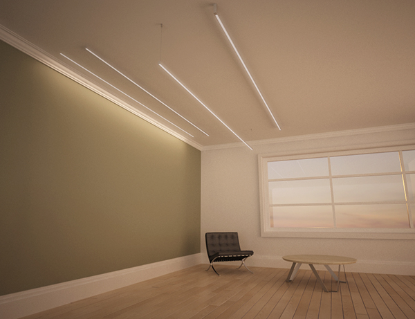 Low profile miniature fluorescent strip light