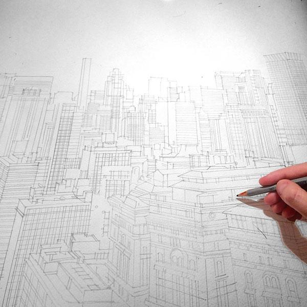 極美的20張建築手繪欣賞