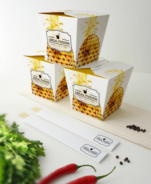 Food box branding mockup on behance for Food bar mockup