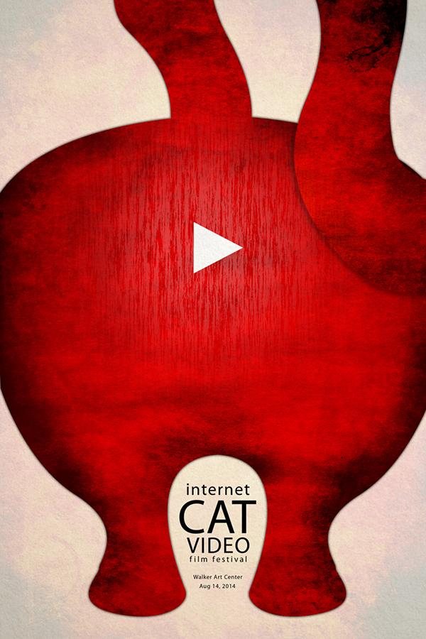 Internet Cat Video Film Festival Poster on Behance