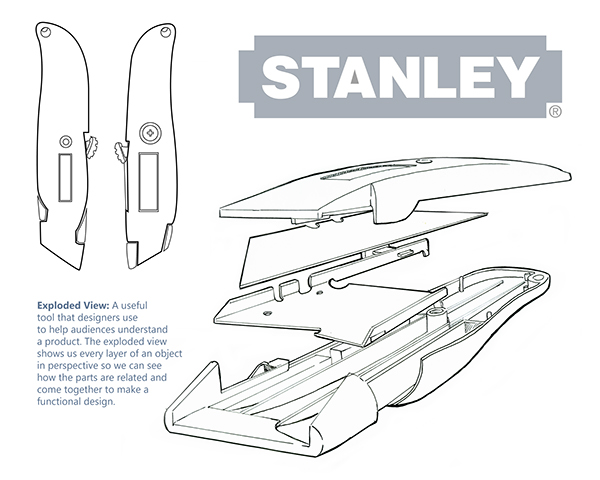 Stanley Box Cutter Exploded View On Behance