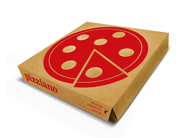 Pizza pizzeria box bag app menu restaurant Food  pie red green pizziano