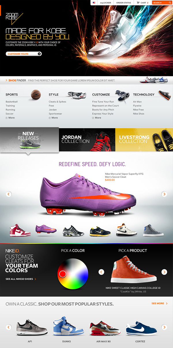 b177426c9a8fb0 Nike Store on Behance