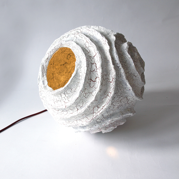 Rosetta paper pulp lamp on behance for Paper mache pulp