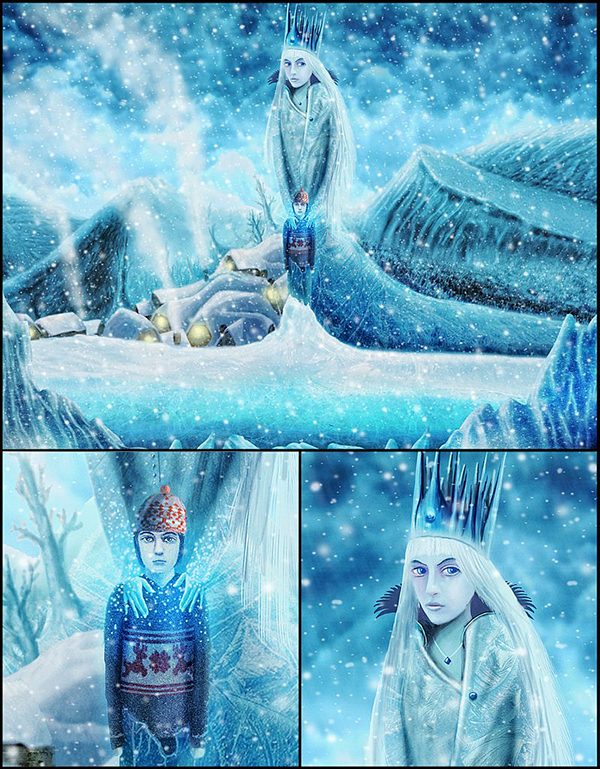 Snow Queen Illustrations Snow Queen Cover on Behance